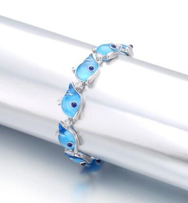 View 2. Thumbnail of Lot 36. MICHELE DELLA VALLE | BLUE TOPAZ, DIAMOND AND DIAMOND BRACELET.