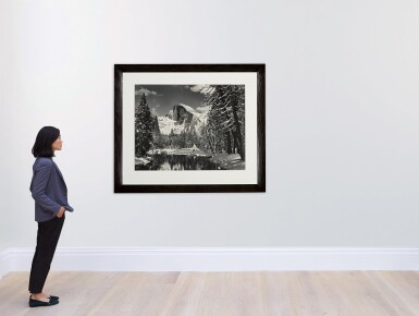 View 3. Thumbnail of Lot 38. Half Dome, Merced River, Winter, Yosemite Valley.