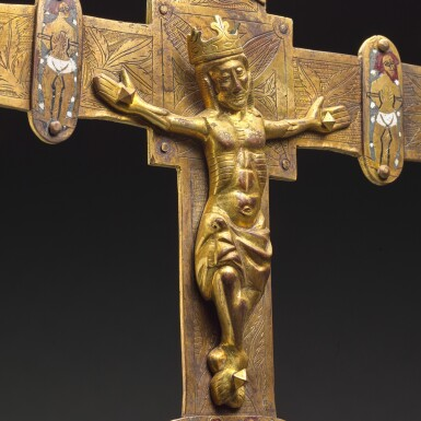 View 3. Thumbnail of Lot 41. Spanish, Burgos, late 14th/ early 15th century | Processional Cross.