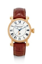 SPEAKE-MARIN   THE PICCADILLY, REFERENCE SMRD 0065/181, A PINK GOLD WRISTWATCH WITH DATE AND ENAMEL DIAL, CIRCA 2015