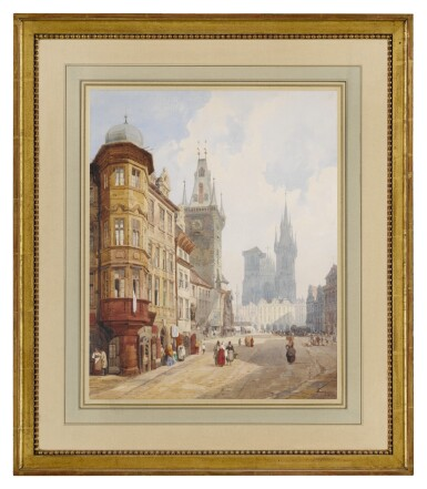 View 2. Thumbnail of Lot 22. THOMAS SHOTTER BOYS | VIEW OF PRAGUE, LOOKING TOWARDS OLD TOWN SQUARE WITH THE RATHAUS AND TYN CHURCH.