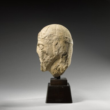 FRENCH, PERHAPS BURGUNDY, SECOND QUARTER 12TH CENTURY | MALE HEAD