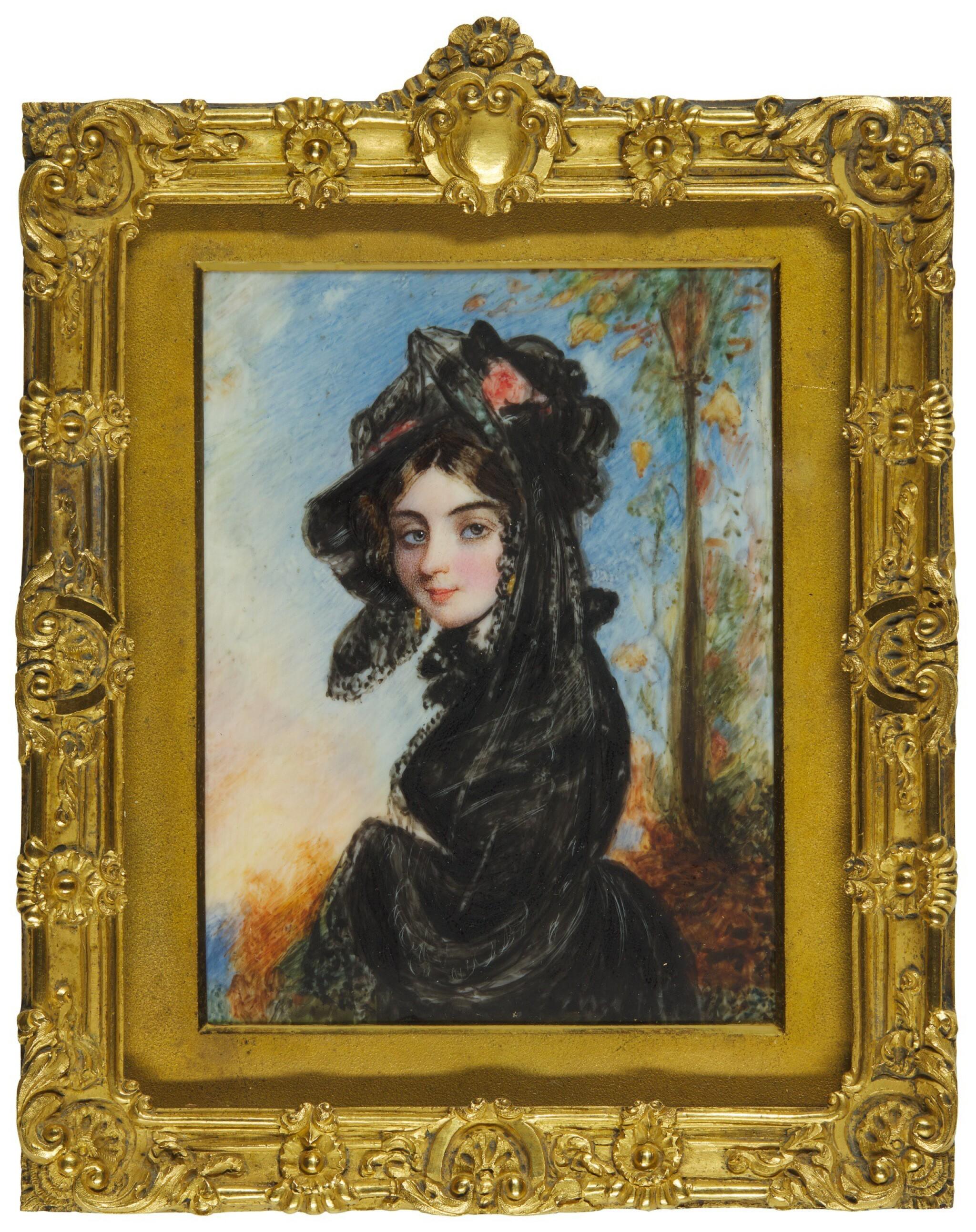 View full screen - View 1 of Lot 366. SIMON JACQUES ROCHARD | PORTRAIT OF A LADY, CIRCA 1830.