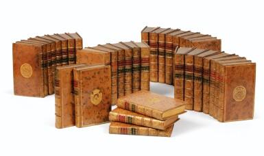 View 1. Thumbnail of Lot 204. COMPAGNIE DE JESUS. Lettres édifiantes... 1717-1776. 34 vol. Ex. aux armes du duc d'Aumont..