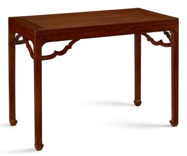 View 4. Thumbnail of Lot 47. A PAIR OF HUANGHUALI RECTANGULAR CORNER-LEG TABLES, TIAOZHUO MING DYNASTY, EARLY 17TH CENTURY   明十七世紀初 黃花梨如意角牙馬蹄足四平條桌成對.