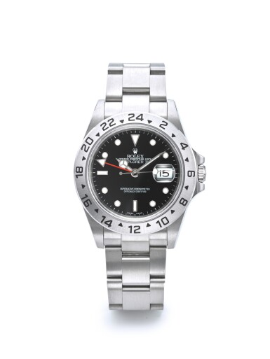 ROLEX | REF 16570 EXPLORER II, A STAINLESS STEEL AUTOMATIC DUAL TIME WRISTWATCH WITH DATE AND BRACELET CIRCA 2003