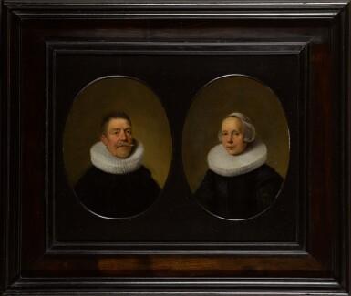 View 2. Thumbnail of Lot 1. DIRCK VAN DER LISSE | Portrait of a gentleman; and Portrait of a lady.