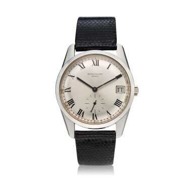 View 1. Thumbnail of Lot 235. Reference 3558G A white gold wristwatch with date, Made in 1971 .