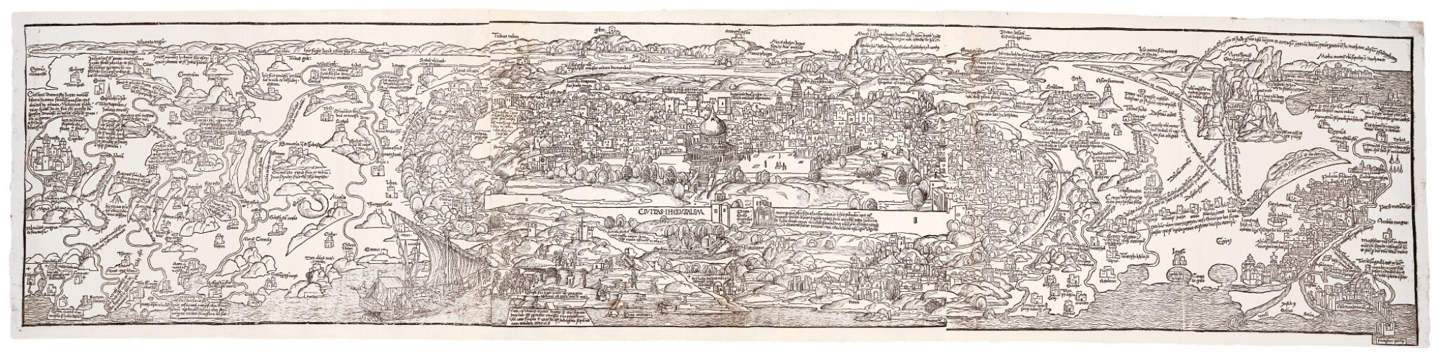 View 1 of Lot 234. Jerusalem and Palestine, Panorama, 1502.
