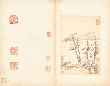 View 13. Thumbnail of Lot 3076. Hongren 1610 - 1664 弘仁1610-1664 | Landscapes and Calligraphies 書畫合璧冊.