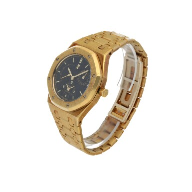 View 2. Thumbnail of Lot 32. Royal Oak, Ref. 25730BA/O/0789BA/01  Yellow gold dual time wristwatch with date, power reserve indication and bracelet  Circa 1998.