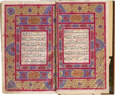 AN ILLUMINATED QUR'AN, COPIED BY ABDULLAH B. ALI NAQI AHMED, PERSIA, SAFAVID, DATED 1139 AH/1726 AD