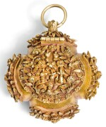 A GOLD PENDANT BETEL NUT BOX, PROBABLY CANTON, MID 19TH CENTURY