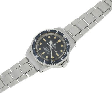 View 4. Thumbnail of Lot 102. ROLEX   REFERENCE 5512 SUBMARINER A STAINLESS STEEL AUTOMATIC WRISTWATCH WITH BRACELET, CIRCA 1965.