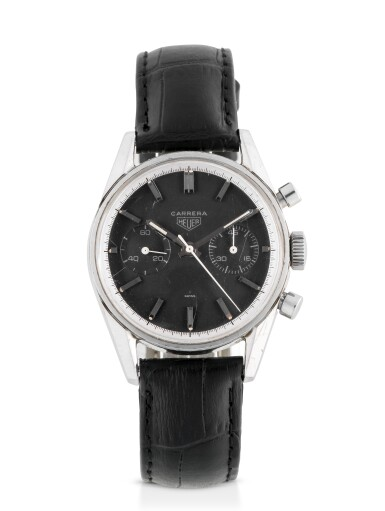HEUER | CARRERA 45 STAINLESS STEEL CHRONOGRAPH WRISTWATCH CIRCA 1965