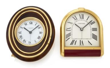 TWO ALARM CLOCKS   (DUE SVEGLIE DA TAVOLO), CARTIER
