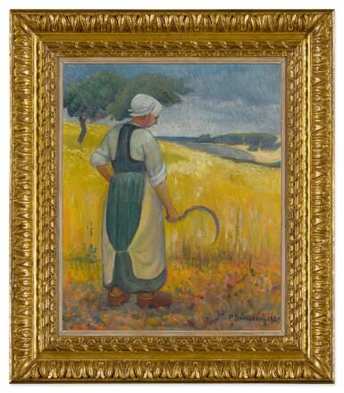 View 2. Thumbnail of Lot 31. Jeune bretonne à la faucille.