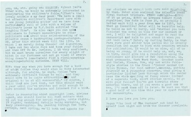View 2. Thumbnail of Lot 10. Sylvia Plath   Typed letter signed, to Ted Hughes, discussing their poetry, 6 October 1956.