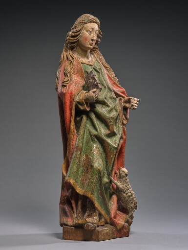 WORKSHOP OF TILMAN HEYSACKER, CALLED MEISTER TILMAN (ACTIVE CIRCA 1475-1515) | SAINT AGNES WITH HER LAMB