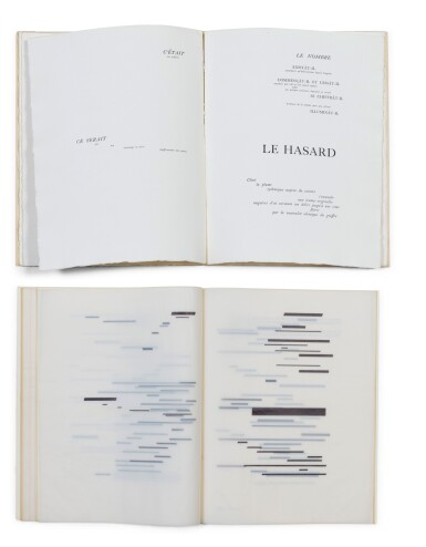 """View 1. Thumbnail of Lot 140. 2 versions du """"Coup de dés"""": édition de la NRF (1914) et édition sur calque (1969)."""