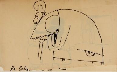 View 3. Thumbnail of Lot 27. JEAN COCTEAU. Le Potomak. 1919. 1/10 exemplaires sur vergé de Hollande (n° 7), contenant trois dessins originaux..