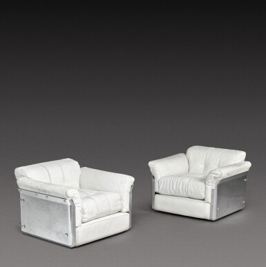 View 1. Thumbnail of Lot 190. A Pair of Larissa Armchairs.