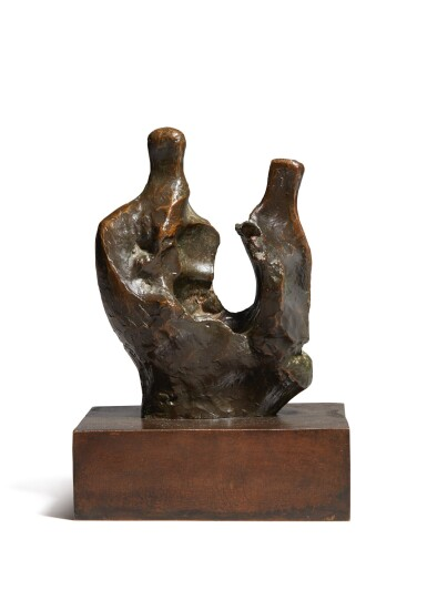 View 1. Thumbnail of Lot 207. HENRY MOORE | MOTHER AND CHILD (BONE).