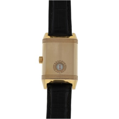 View 2. Thumbnail of Lot 86. JAEGER-LECOULTRE   REF 240.214 REVERSO, A PINK GOLD RECTANGULAR REVERSIBLE WRISTWATCH WITH POWER RESERVE INDICATION CIRCA 2005.