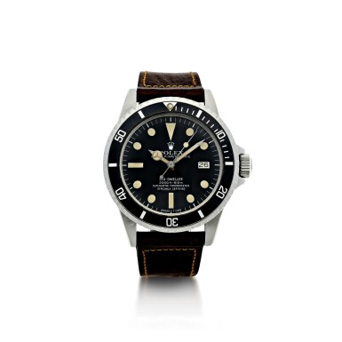 View 1. Thumbnail of Lot 107. ROLEX   REFERENCE 1665 SEA-DWELLER 'GREAT WHITE' A STAINLESS STEEL AUTOMATIC WRISTWATCH WITH DATE, CIRCA 1977.