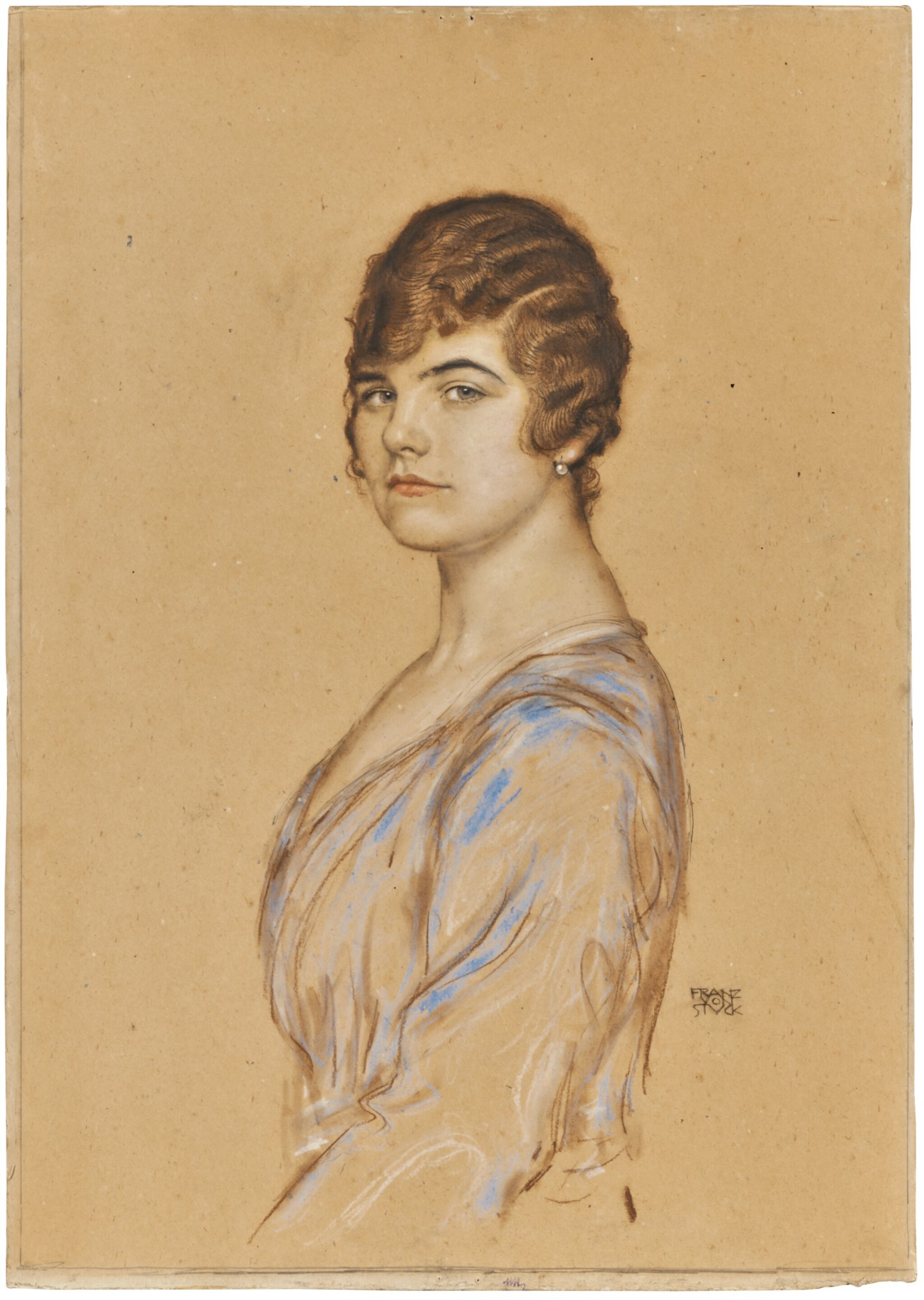 View 1 of Lot 25. Girl in a Blue Dress.