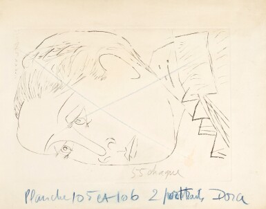 PABLO PICASSO   PORTRAIT DE DORA MAAR AU CHIGNON.I (B. 291; BA. 611)