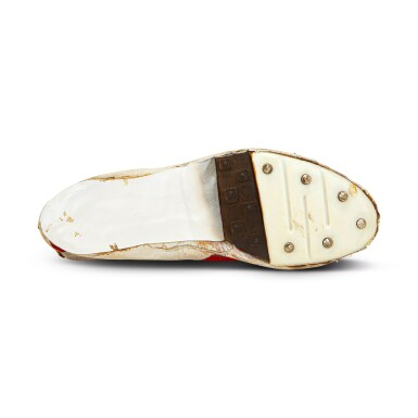 View 8. Thumbnail of Lot 8. Bill Bowerman (Nike Co-Founder) Handmade Prototype Logo Track Spikes With Waffle Sole.