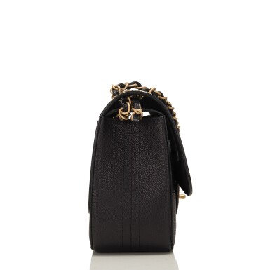 """View 3. Thumbnail of Lot 62.  Chanel """"Pure"""" Jumbo Double Flap Bag of Black Caviar Leather with Gold Tone Hardware."""
