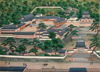 View 11. Thumbnail of Lot 116. ATTRIBUTED TO KAWAHARA KEIGA (1786–1860) STUDIO, A GROUP OF ELEVEN VIEWS STUDIO, EDO PERIOD, EARLY 19TH CENTURY  .