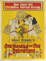 One Hundred and One Dalmatians (1961) poster, US