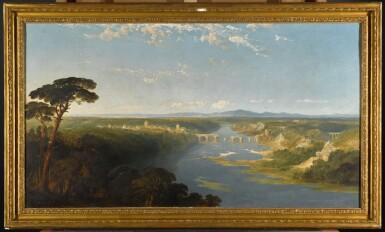 View 2. Thumbnail of Lot 220. EDMUND JOHN NIEMANN | A Mediterranean rivercapriccio.