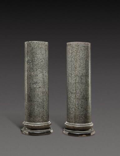 View 1. Thumbnail of Lot 154. Italian, 19th century   Pair of Columns.