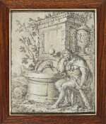 FRENCH SCHOOL, CIRCA 1700   Hercules resting by a fountain