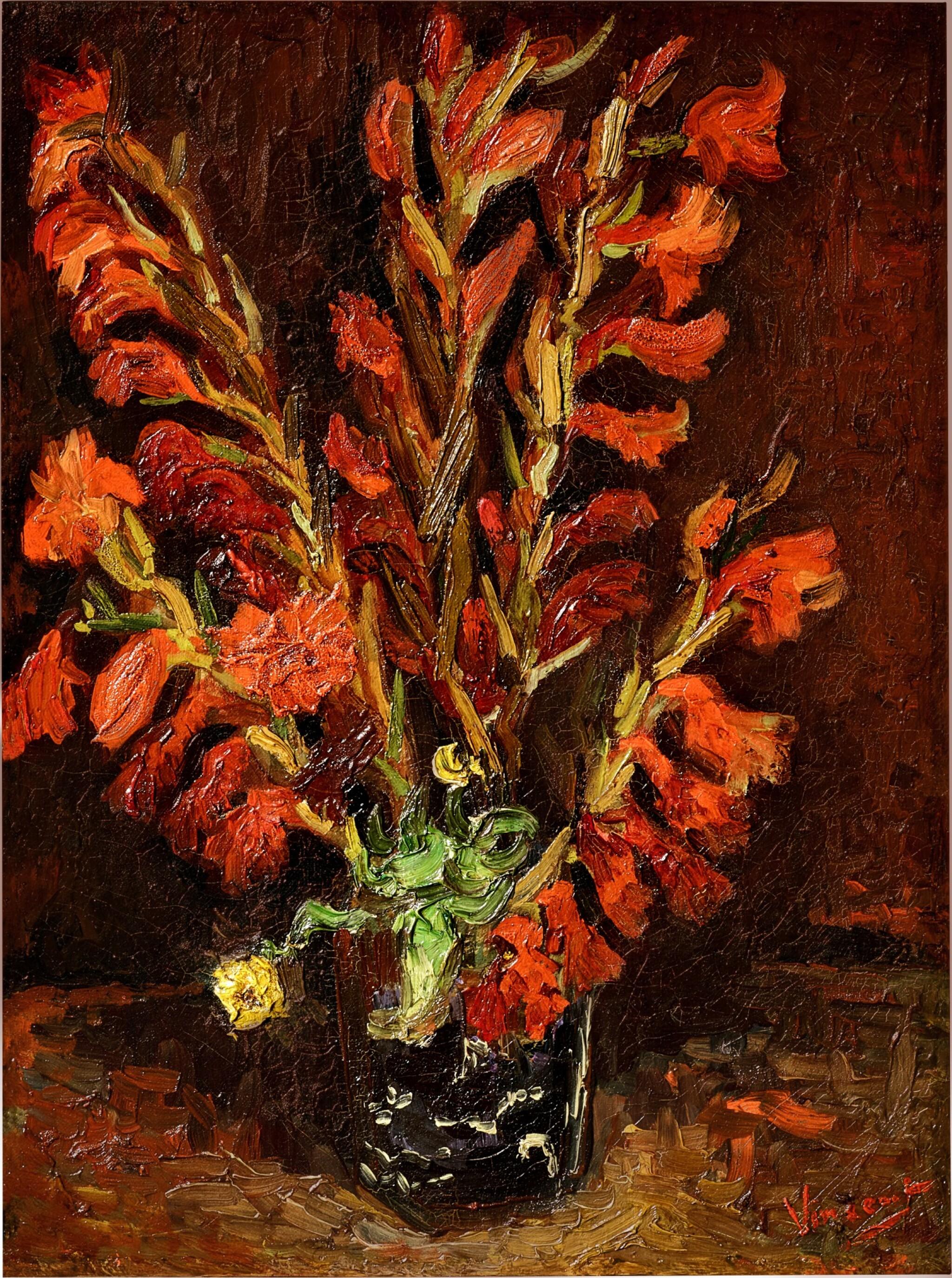 View full screen - View 1 of Lot 1020. Vincent van Gogh 文森・梵高 | Nature Morte: Vase Aux Glaïeuls 靜物:花瓶與菖蘭.