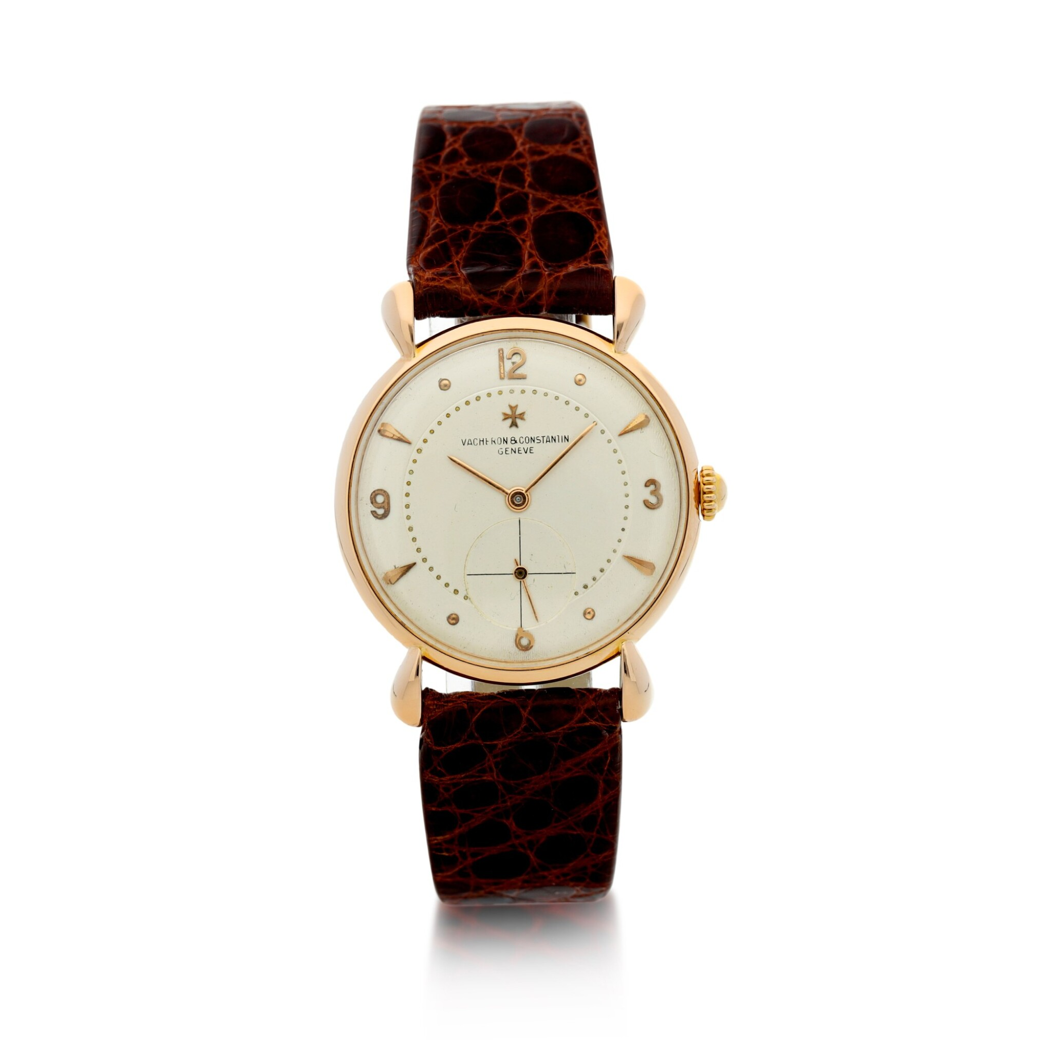 View full screen - View 1 of Lot 291. REFERENCE 4299 A PINK GOLD WRISTWATCH, CIRCA 1955.