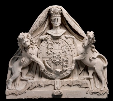 COADE'S ARTIFICIAL STONE MANUFACTORY (FL. 1769-1840), BRITISH, LONDON, 1807 | PEDIMENT RELIEF WITH THE ROYAL ARMS OF GEORGE III