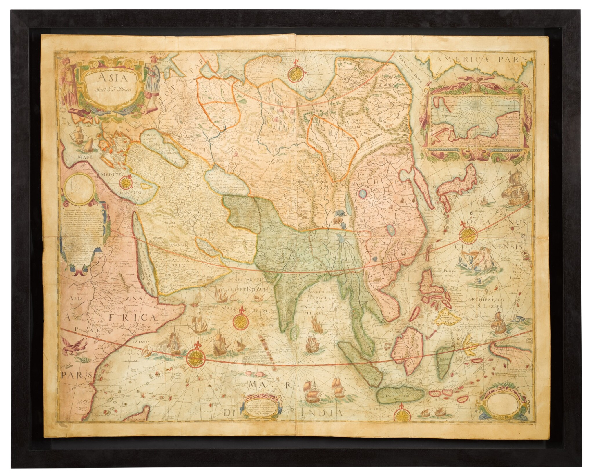 View full screen - View 1 of Lot 39. Willem Blaeu | A set of four wall maps of the continents, 1673 or later.