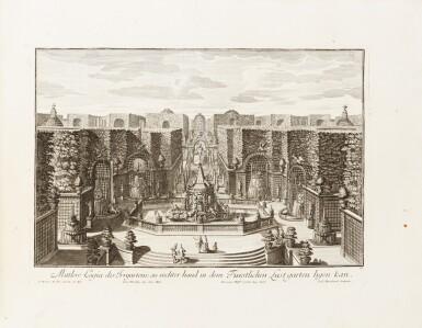 View 1. Thumbnail of Lot 55. Fürstlicher Baumeister... Augsbourg, 1711-1716. In-folio oblong. Edition originale.