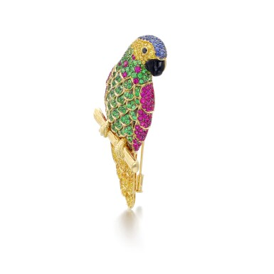 View 2. Thumbnail of Lot 15. MICHELE DELLA VALLE | GEM SET BROOCH.