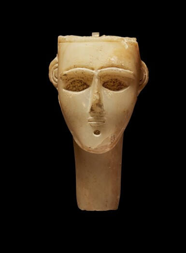 View 2. Thumbnail of Lot 73. An Alabaster Head of a Man, Southern Arabia, circa 2nd/1st Century B.C..