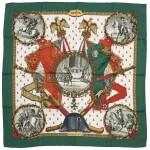 Printed silk scarf 'Napoléon', Hermès