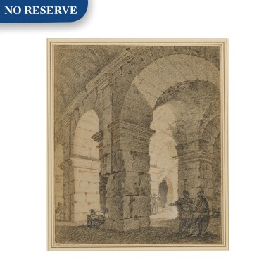 View 1. Thumbnail of Lot 147. Soldiers standing within an architectural ruin.