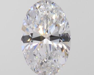 A 1.32 Carat Oval-Shaped Diamond, D Color, Internally Flawless