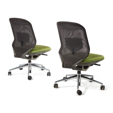 """View 2. Thumbnail of Lot 295. Pair of """"Meda"""" Chairs."""