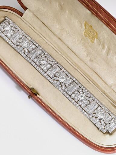 View 7. Thumbnail of Lot 349. CARTIER | IMPORTANT DIAMOND BRACELET, 'COURSE DE FEUILLAGE', 1926.